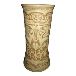 Weller Ivory Centaur Decorated Pottery Vase