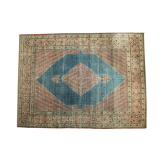 "Vintage Distressed Mahal Carpet - 9'8"" x 12'8"""