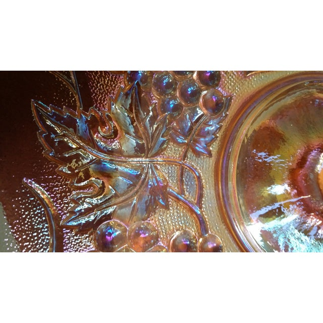Carnival 1970s Iridescent Green & Brown Glassware - Image 7 of 8