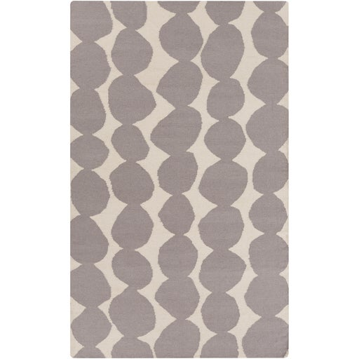 Lotta Jansdotter Gray Wool Rug- 5' X 8' - Image 1 of 6