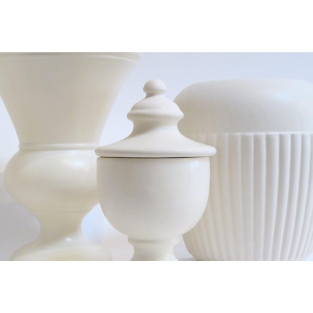 White Ceramic Vessels- Set of 4 - Image 4 of 5