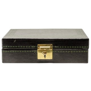 Vintage Black Jewelry Box