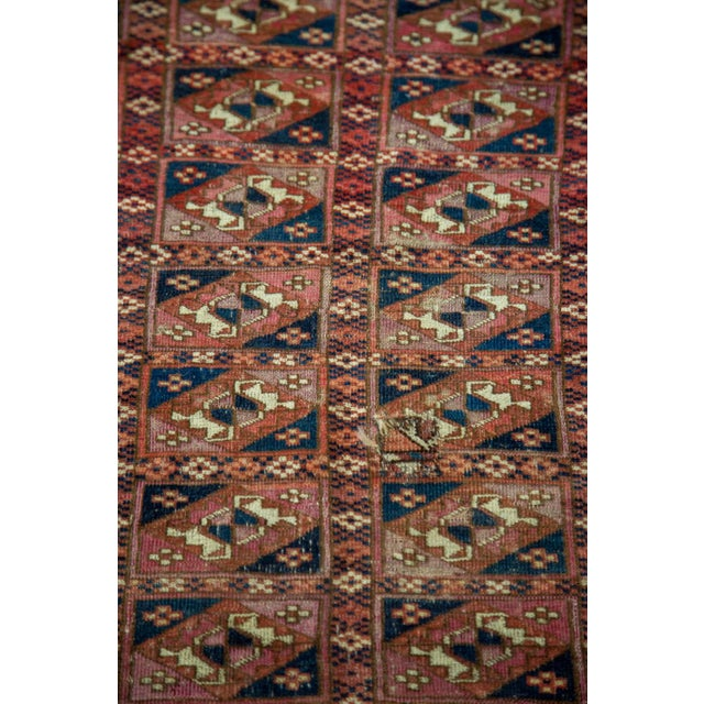 "Antique Turkmen Square Rug - 2'8"" X 3'1"" - Image 7 of 9"