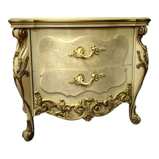 Vintage French Baroque Style Nightstand