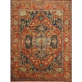"Pasargad N Y Indo Hand-Knotted Serapi Rug - 9'1"" X 12'3"""
