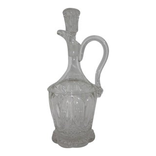 Byrce McKee & Co. Early American Pressed Glass Decanter with Stopper