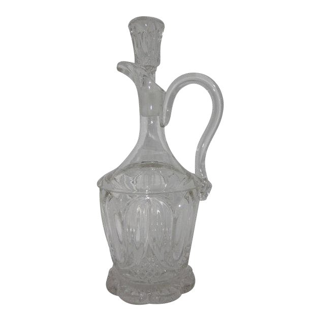 Image of Byrce McKee & Co. Early American Pressed Glass Decanter with Stopper