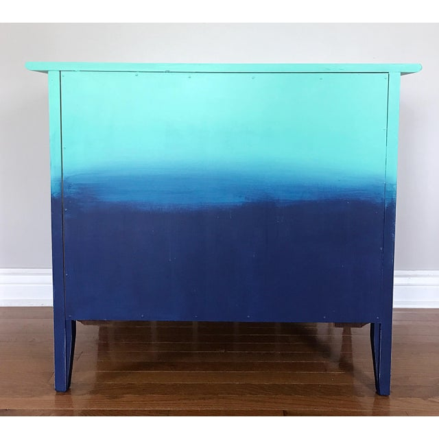 Turquoise & Navy Ombré Dresser - Image 7 of 8