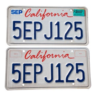 California License Plates - A Pair