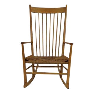 Hans Wegner Beech Wood Rocker by Mobler