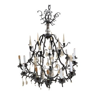 Scalloped Crystal Chandelier