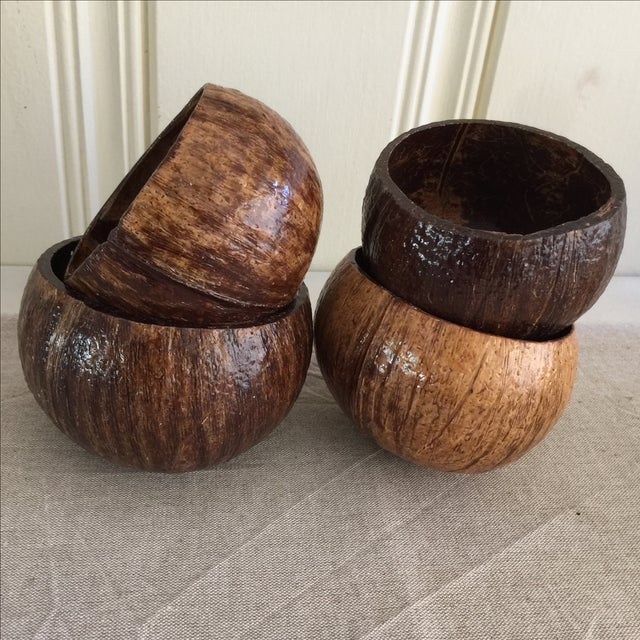 Coconut Cocktail Cups - Set of 4 - Image 2 of 6