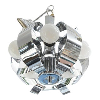 Small Chrome Chandelier, 1960s