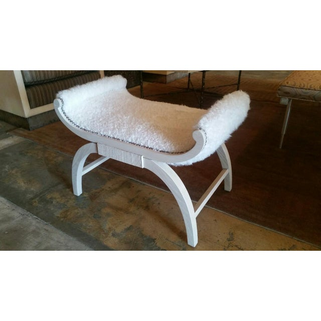 Image of Paul Marra Neoclassical Bench in Lambswool