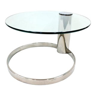 Mid Century Modern Pace Glass Top Chrome Coffee Table