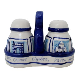 French Salt & Pepper Shakers - 3 Pieces