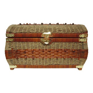 Rattan & Rope Wicker Storage Trunk