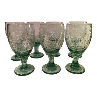 Light Green Water Goblets - Set of 7