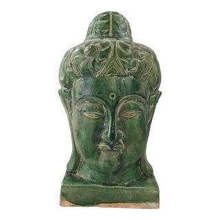 Chinese Jade Majolica Quan Yin Sculpture