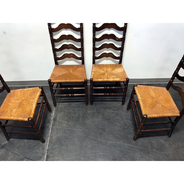 Tell City Vintage Ladder Back Dining Chairs - Set of 4 - Image 8 of 11