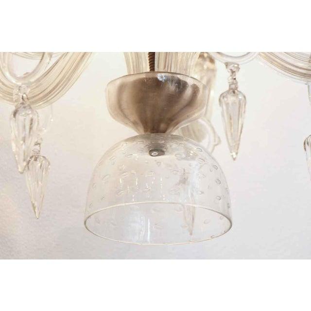 Segusa Mid-Century Modern Blown Glass Chandelier - Image 4 of 10