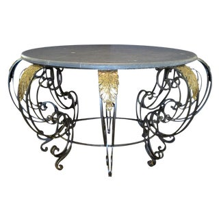 A Curvaceous French Rococo Style Wrought-Iron Center Table