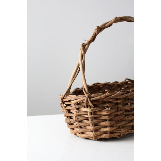 Primitive Wicker Twig Basket - Image 5 of 6