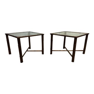 Metal Faux Bamboo Stands - A Pair