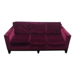 Eggplant Microfiber Velvet Sofa