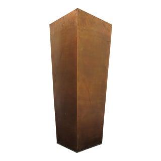 Copper Column Planter