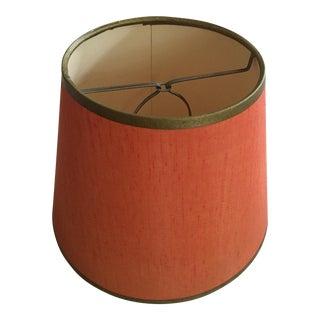 Vintage Orange Silk Lampshade