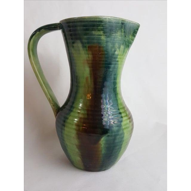 Green Belgian Art Pottery Jug Chairish