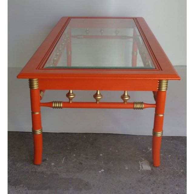 Beach Chic Coffee Table: Vintage Palm Beach Style Coffee Table