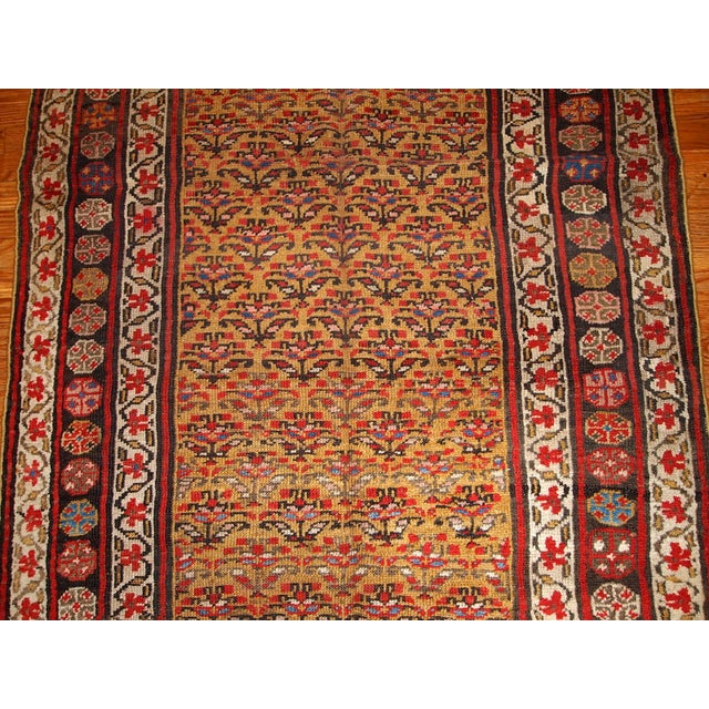 1880s Hand Made Antique Persian Kurdish Rug - 4′1″ × 7′8″ - Image 6 of 6