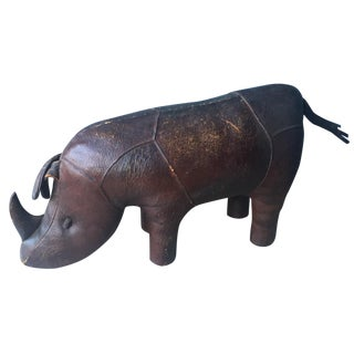 Abercrombie & Fitch Rhinoceros Leather Footstool