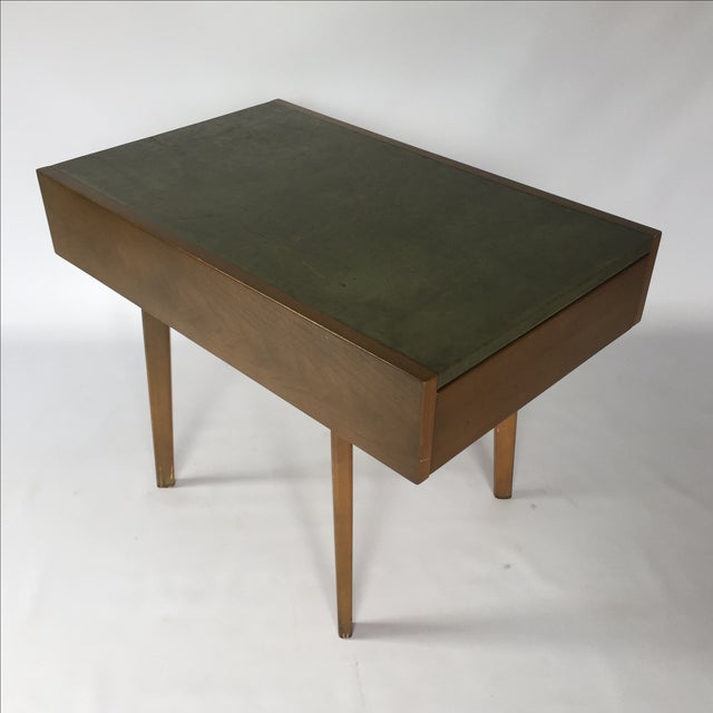 George Nelson Herman Miller Leather Top Side Table - Image 4 of 7