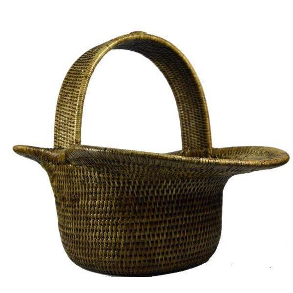 Burmese Hand Woven Hat Basket - Image 7 of 10