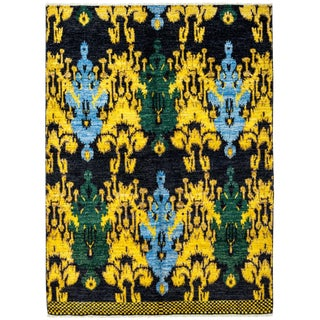 "Ikat, Hand Knotted Area Rug - 5' 0"" x 8' 3"""