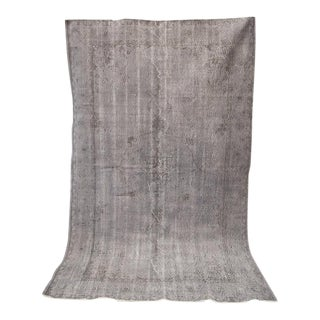 Gray Turkish Overdye Rug - 9' x 5'6""