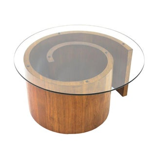 Walnut Spiral 'Snail' Coffee Table