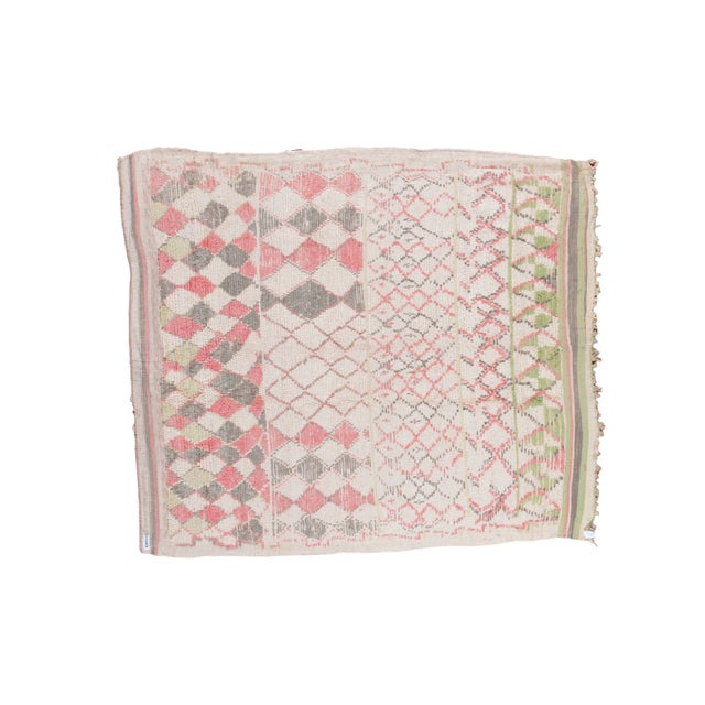 """Vintage Moroccan Square Rug - 5'8"""" x 5'9"""" - Image 1 of 5"""