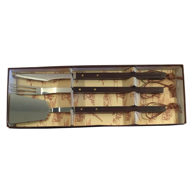 Mid-Century Modern Barbecue Set - Three Pieces - Image 1 of 6