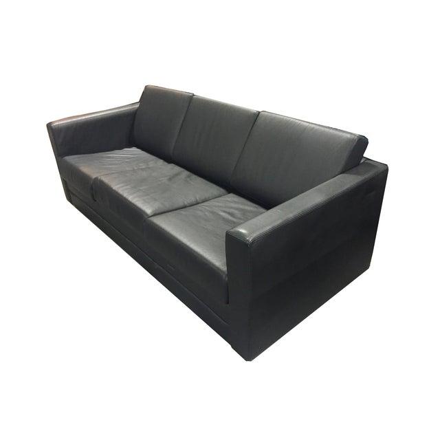 Brayton International Black Leather 3 Seater Sofa - Image 4 of 9