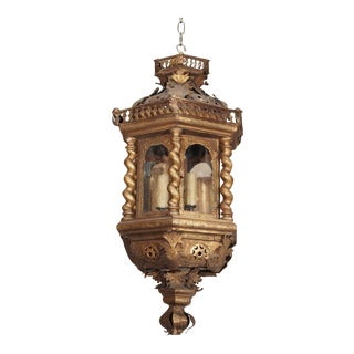 18th Century Italian Gilt Metal Lantern