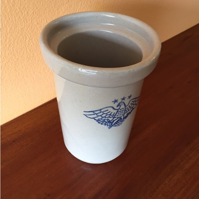 Vintage American Eagle Salt Glaze Crock - Image 4 of 9