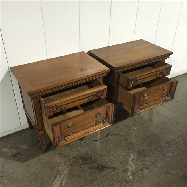 Image of Vintage English Inspired Nightstand - Pair