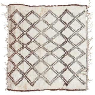 """Beni Ourain Moroccan Square Rug - 5' x 5'5"""""""