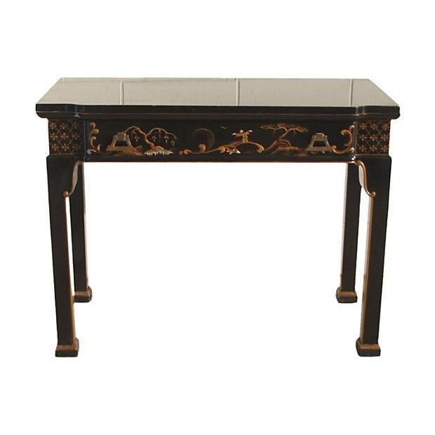 Convertible Chinoiserie Desk And Dining Table - Image 1 of 6