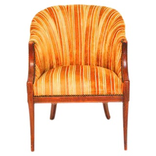 Mid-Century Modern Channel Back Club Chair
