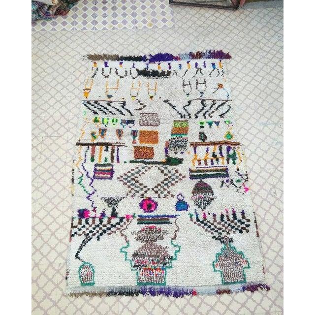 Vintage Azilal Wool Moroccan Rug - 5″ × 7″ - Image 2 of 4
